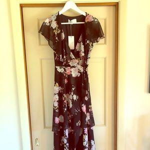 Wayf Palermo Floral wrap dress
